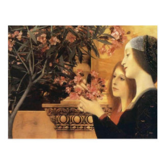 Two Girls With An Oleander by Gustav Klimt Post Card