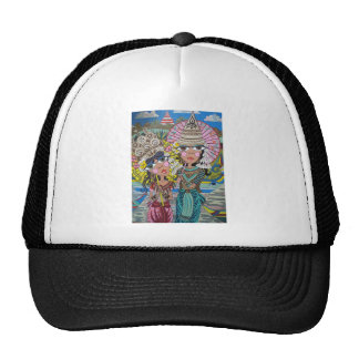 Two Girls with Parasols Trucker Hat
