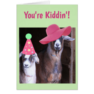 Two Goats Funny Birthday Card