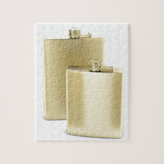 Two golden hip flasks jigsaw puzzle