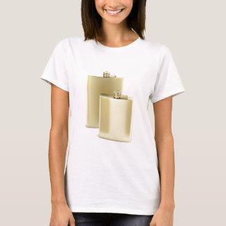 Two golden hip flasks T-Shirt