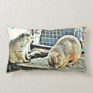Two Gophers Throw Pillow