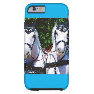 Two Gray Percherons Tough iPhone 6 Case