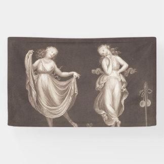 Two Grecian Women Dancing Banner