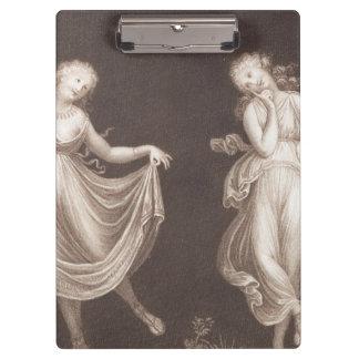Two Grecian Women Dancing Clipboards