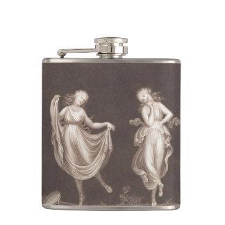 Two Grecian Women Dancing Flask