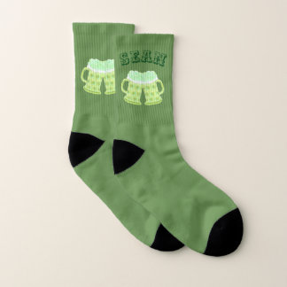 Two green beers personalized sock 1