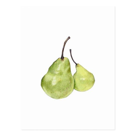 Two Green Pears Postcard