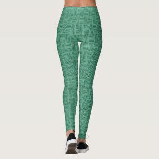 Two Greens Animal Pattern#54d Legging Pants