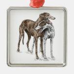 Two Greyhound Friends Dog Art