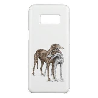 Two Greyhound Friends Dog Art Case-Mate Samsung Galaxy S8 Case