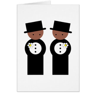 Two grooms greeting card