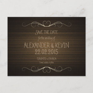 Two Grooms-Gay Save the Date wedding | Postcard