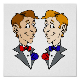 Two Grooms Heads Print