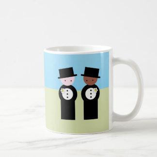 Two grooms one caucasian classic white coffee mug
