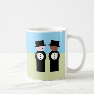 Two grooms one caucasian coffee mug