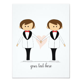 Two Grooms Wedding Invitations