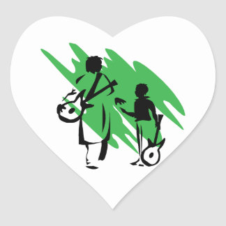 two guitar players outline musician green png sticker