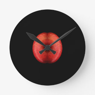 Two Half of Red Apple Fine Art Photograph Clocks
