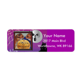 Two hamsters and pumpkin return address label