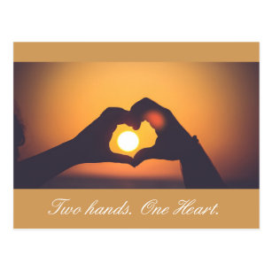 Two Hands  One Heart Postcard