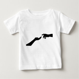Two Hands Reaching Baby T-Shirt