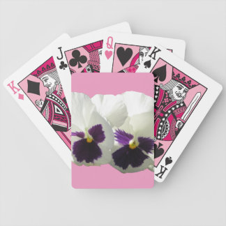 TWO HAPPY PANSIES BICYCLE PLAYING CARDS