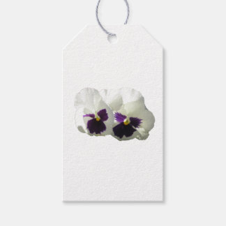TWO HAPPY PANSIES GIFT TAGS