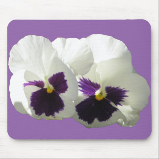 TWO HAPPY PANSIES MOUSE PAD