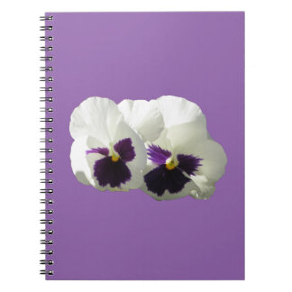 TWO HAPPY PANSIES NOTEBOOKS