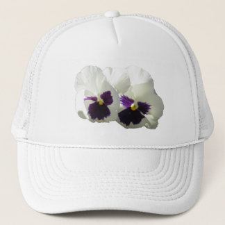 TWO HAPPY PANSIES TRUCKER HAT