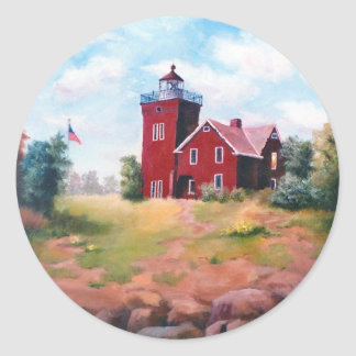 Two Harbors Light Classic Round Sticker