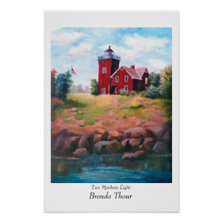 Two Harbors Lighthouse Poster