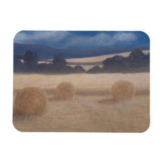 Two Hay Bales 2012 2 Rectangular Photo Magnet