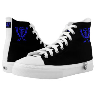 Two Headed Blue Eagle High Tops