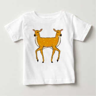 Two Headed Deer Vector Sketch Baby T-Shirt