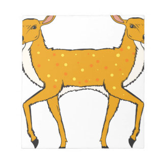Two Headed Deer Vector Sketch Notepad