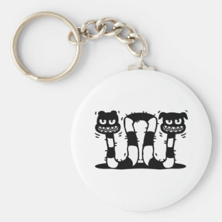 Two Headed Monster Basic Round Button Keychain