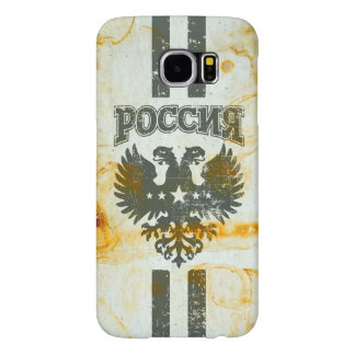 Two Headed Russian Eagle Rust Stained Samsung Galaxy S6 Cases