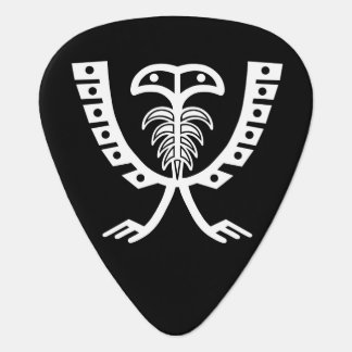 Two Headed White Eagle Guitar Pick