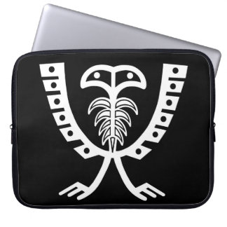 Two Headed White Eagle Laptop Sleeve