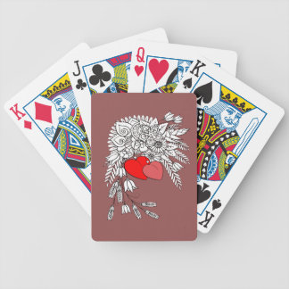 Two Hearts 2 Bicycle Playing Cards