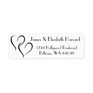Two Hearts Address Label