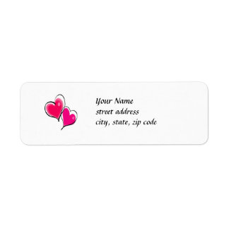 Two Hearts Address Label Template