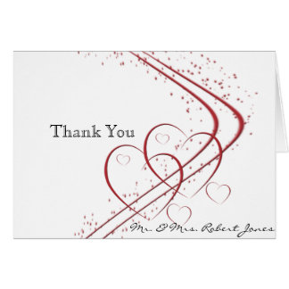 Two Hearts as One Anniversary Thank You Card