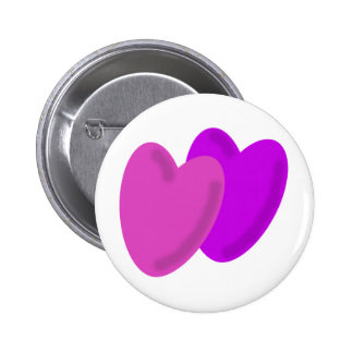 Two hearts beat as one 2 inch round button
