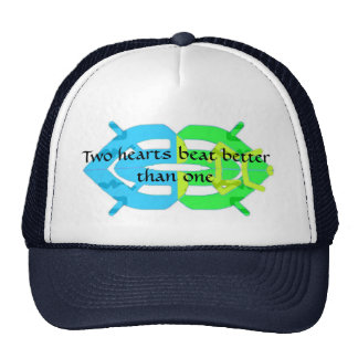 Two Hearts beat,  better than one! Trucker Hat