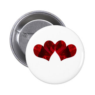 Two hearts Beating As One 2 Inch Round Button