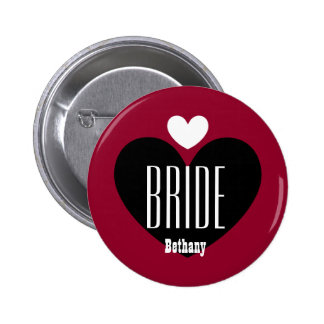Two Hearts Bride Modern Wedding V06 RED Buttons