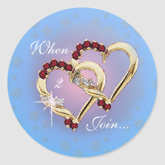 TWO HEARTS by SHARON SHARPE Classic Round Sticker